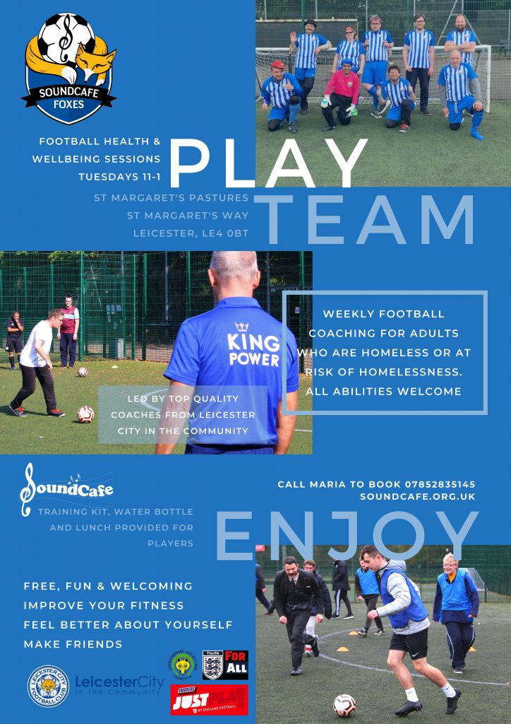 SoundCafe Leicester football poster
